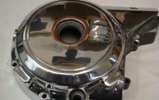 Polised engine case